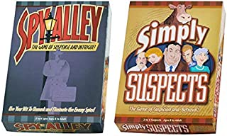 Spy Alley & Simply Suspects - 2 Pack Bundle - Award Winning Family Strategy Board Games