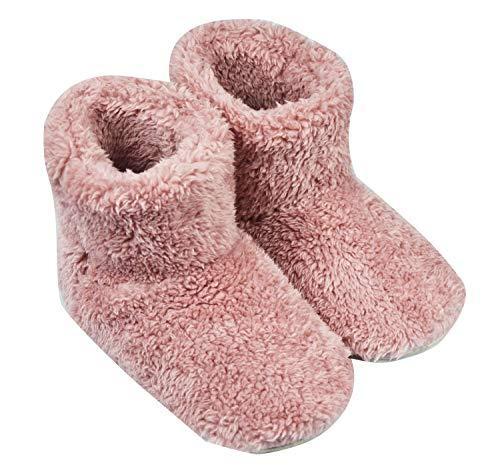 Janday ルームブーツ あったか ルームシューズ 北欧 もこもこ 暖か 足冷え対策 洗濯可 男女兼用 滑り止め 室内履き用 静音 (M(23-24cm))