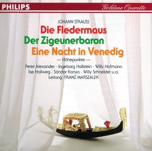 Ilse Hollweg, シャーンドル・コーンヤ, Willy Schneider, Lothar Ostenburg, インゲボルク・ハルシュタイン, Hildegunt Walther, 混声合唱団, ケルン放送交響楽団, 大オペレッタ管弦楽団 & フランツ・マルザレク