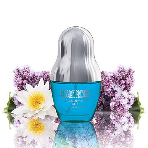 RUSSIAN PRESENT Eau de Parfüm Spray für Damen/femme/women, 35 ml Flakon - das beste Geschenk für Sie - SEI EINZIGARTIG! (BLUE)