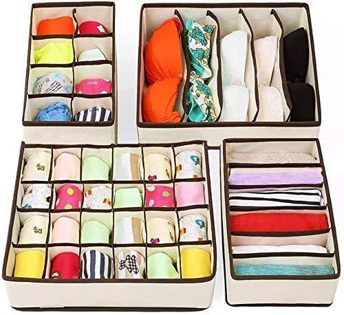 Home Schubladen Aufbewahrungsbox, Kleiderschrank Organizer, faltbare Schubladen Trennwände Aufbewahrungsboxen für Kleidung, BHs, Socken, Krawatten, Schals, Schubladen Aufbewahrung