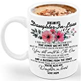 Ceramic White Coffee Cup, Daughter In Law Mug, 11oz, Gift for Daughter