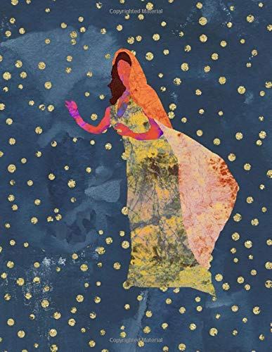 Woman of the Stars Mindfulness and Meditation Journal: abstract art woman walking with the stars