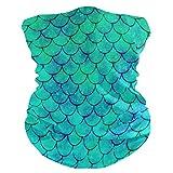 LIUBT Bandana Máscara de protección contra el polvo al aire libre deportes cabeza Wrap sol moto acuarela verde sirena, bufandas faciales para mujeres hombres