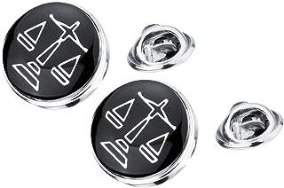 sharprepublic Pin Distintivo di 2X Scala di Giustizia Colletto Spilla Avvocato Donna Distintivo Pin