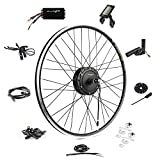 Ebike Conversion Kit 36V 500W 700C Geared Waterproof Electric Bike Conversion Kit - Ebike Kit - Hub Motor Kit S830 LCD Display (Front/LCD/Thumb)