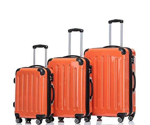 BEIBYE , Set di valigie Multicolore Orangen Set(XL/L/M)