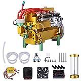 Likecom Motor de gasolina, 32 cc, 4 cilindros, refrigerado por agua, para coche, barco o avión,...