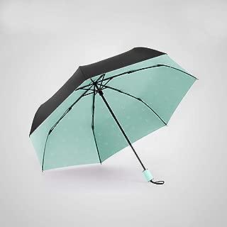 Ultra-Light Portable Folding Umbrella Sun Protection UV Umbrellas Windproof and Rainproof, Durable HYBKY (Color : Green)