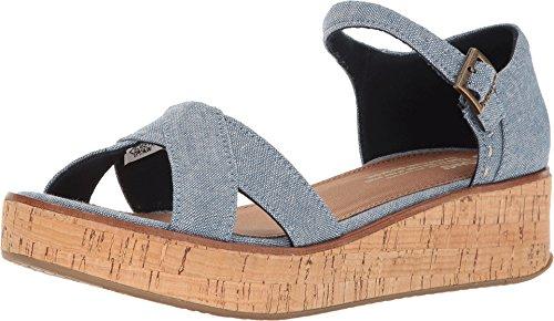 Harper Wedge Schuh blue slub chambray Größe: 36 Farbe: blue-slub-