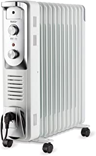 Fakir RF 11 Turbo Oil electric space heater Interior Plata, Blanco 2900 W - Calefactor (Oil electric space heater, Aceite, Interior, Piso, Plata, Blanco, Giratorio)