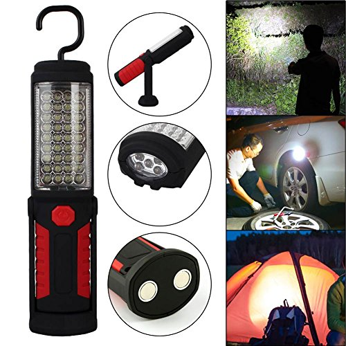Portable 36 + 5Led Work Light Camping Lampe d'urgence Lampe de poche W/Magnetic Red