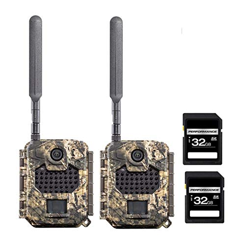 COVERT 5748 AW1-V Verizon Camera -App Based Setup Set of 2 Cameras with 2 SD 32 GB Cards