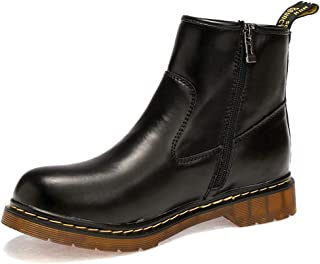 Women's Low Wedge Ankle Boots, Men Zip Fastening And Non Slip Sole Waterproof Ankle Bootie