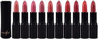 Lurrose 10ピースマット口紅セット長続きなしフェージング口紅多色口紅化粧セット用女性