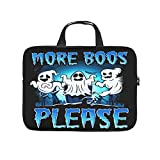 Laptop Sleeve More Boos Please Halloween Scratch-resistant Slim -HalloweenComputer Case Compatible with 13-15.6 inch MacBook Pro white 10 zoll