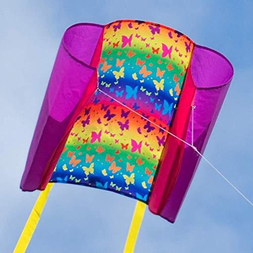 CIM Kinder-Drachen - Beach Kite BUTTERFLY - Einleiner-Flugdrachen für Kinder ab 6 Jahren - 74x47cm...