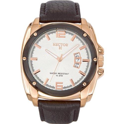 Hector H Herren-Armbanduhr Analog Quarz Leder 666016