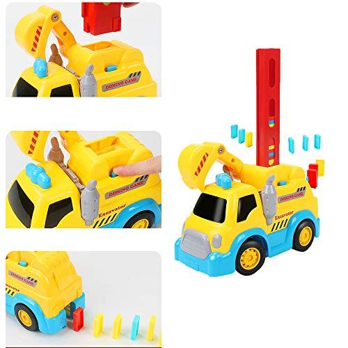 JIESD-Z Domino - Tren de construcción y apilamiento, juguetes de dominó creativo para niños, regalos creativos para niños y niñas