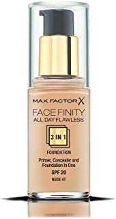 Max Factor Facefinity All Day Flawless 3 In 1 Foundation SPF 20, No. 47 Nude