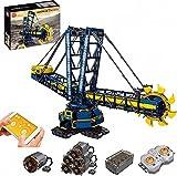 Set Da Costruzione per Escavatore con Ruota A Benna, Mold King 17006, 4588 + Pezzi 2.4Ghz/APP Giocattolo Da Costruzione Modello Di Escavatore RC, Mattoncino Compatibile Con LEGO Technic