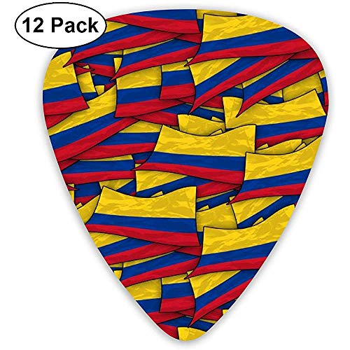 Sherly Yard Colombia Flag Wave Collage Púas de guitarra Paq