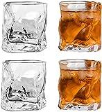 N\A Gafas de Whisky de 4pcs, Gafas Transparentes, Gafas de Cristal no de Plomo, Accesorios de Vino para Vino, cócteles o Jugo (250 ml / 8.8oz)