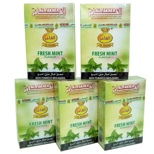 Al Fakher 5 x 50 GR menta fresca el sabor del paquete de pipa hooka narguile