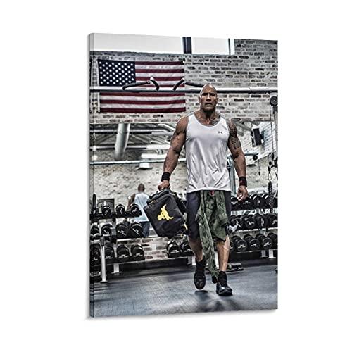 Dwayne Johnson Fitness - Lienzo decorativo para pared (60 x 90 cm) 🔥