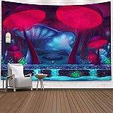 N/ A Forêt Champignon Tapisserie Psychédélique Tapisserie Murale Tenture Murale Tapisserie Décoration de La Maison Yoga Serviette De Plage (200X150 cm)
