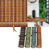 L-DREAM Persiana De Bambú para Exterior Y Interiores 140cm, Estor Enrollable, Toldo Vertical - para Sala De Cama, Decoración Ventanas, Baño, Puertas, Hogar Cortina De Bambú