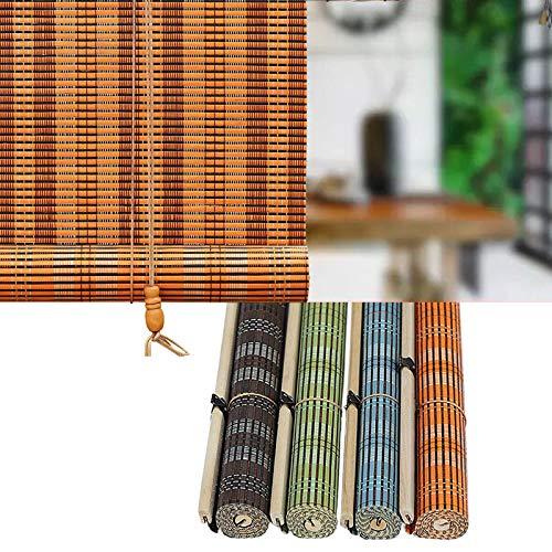 L-DREAM Bambusrollo Raffrollo - Mit Seitenzug, Holzrollo Für Fenster, Sonnenschutz, Wetterfest Bambusvorhang Für Innen Und Außen Deko, Terrasse, Mehrere Größen, Bambus Rollo In Natur