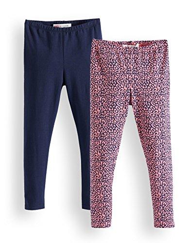 Amazon-Marke: RED WAGON Mädchen Verschiedene Leggings im 2er Pack, Mehrfarbig (Confetti Navy 16-1723 Tcx 19-3921Tcx), 104, Label:4 Years