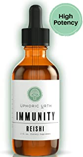 Uphoric Urth Reishi Mushroom Extract Tincture - Natural Support for Immunity | Benefits Healthy Immune Response, Manages Inflammation, Lower Blood Sugar, Improve Sleep, Balance Hormones (2 Fl Oz)