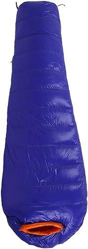 Sakuldes Sac de Couchage de Camping Confort pour Adultes par Temps Chaud, avec Sac de Compression (Couleur   Sapphire, Taille   1200g)