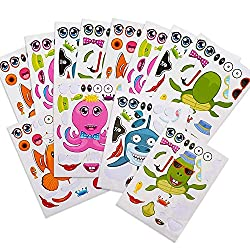 Make A Sea Creature & Fish Sticker Sheets