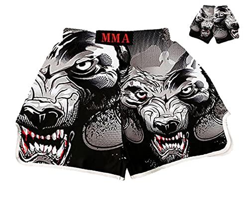 AITING MMA Pantalones Cortos para Combatir el Entrenamiento de Kickboxing Grappling y UFC Jaage Fight Short, Boxing Muay Thai Thai XS