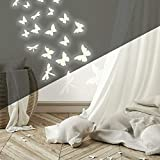 RoomMates RMK1706SCS Butterflies and Dragonflies Glow In The Dark Wall Decals , White