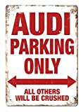 Mr.sign Audi Parking Only Blechschilder Vintage Metall