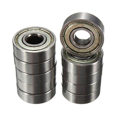 Rodamientos de bolas Sodial (R), 10 unidades de 8 x 22 x 7mm para monopatín o patinete ABEC-5 608ZZ