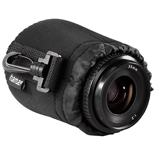 Hama Objektivbeutel, Neopren, Größe S, u.a. passend für Objektive von Herstellern wie Nikon, Canon, Olympus, Panasonic, Sony, Sigma, Tamron, Leica uzw.