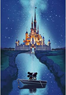 Diamond Painting Rhinestone Embroidery Crafts Night Castle Diamond Painting Home Wall Decoration Gift Children's Suit Children and Adults Preferred Size: 15.7 X11.8inch