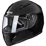Nexo Motorradhelm, Vollvisierhelm, Integralhelm Basic II, herausnehmbares Komfortpolster, Be- und...