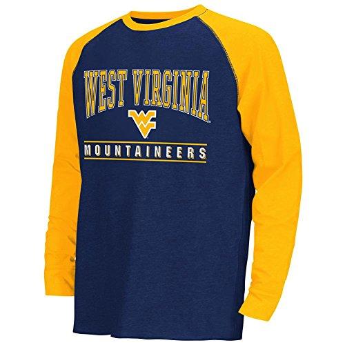 colosseum ncaa virginia t shirts Colosseum Youth Kryton Raglan West Virginia Mountaineers Long Sleeve Tee
