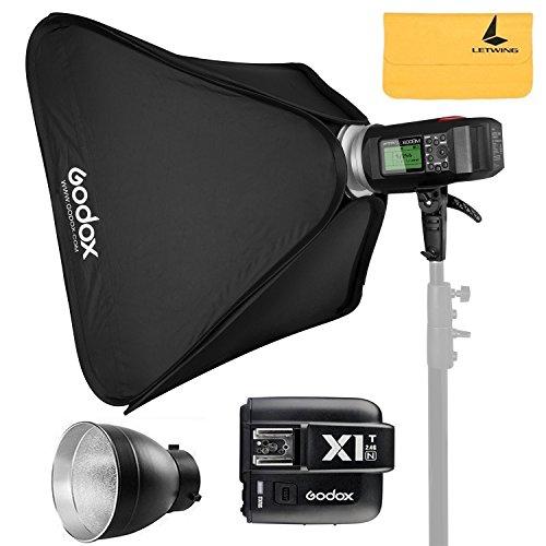 "GODOX AD600BM AD Sync 1 / 8000s 2.4G Wireless Flash Light Speedlite+GODOX X1T-N for Nikon Series Cameras,AD-R6,80cmX80cm /32""X32""Softbox"