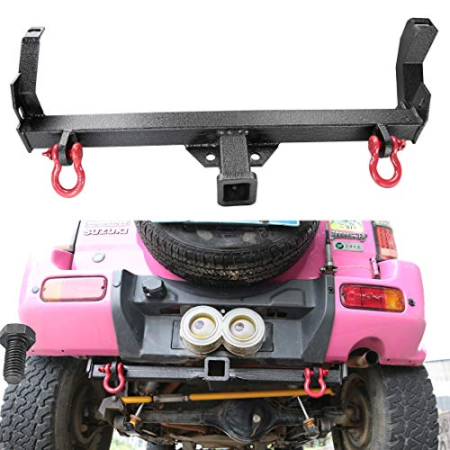 Trailer Hitch,Off Road 4WD Receiver Rear Bumper Tow Kit for