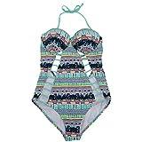 Makalon Damen Strand Sexy Solide Bikini Badeanzug Outdoor Sport Atmungsaktiv Badebekleidung...