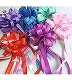 1/5/10pc impresión amor DIY Cintas Big Pull Bow Flower Wrappers para boda coche/fiesta de cumpleaños decoración caja decoración