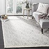 Safavieh Cambridge Collection CAM123D Handmade Moroccan Premium Wool Area Rug, 6' x 9', Silver /...