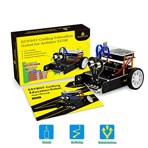 KEYESTUDIO Kit Robot Mini Tank con Evitare di ostacolo...